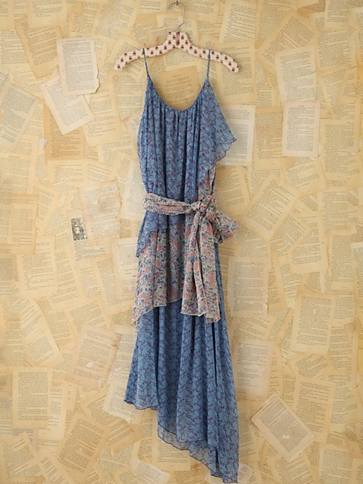 Vintage Floral Ruffle Maxi Dress in Vintage-Loves-dresses