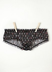 Printed Mesh Hipster in Intimates-lingerie-undies