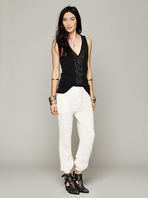 Free People Lace Pants in crochet-leggings