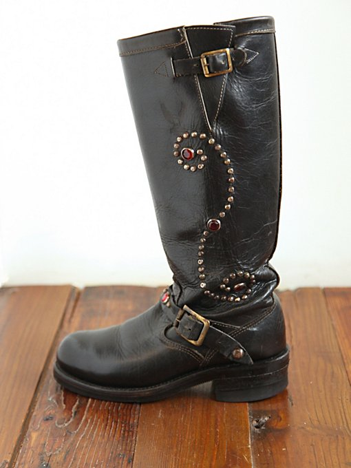 Free People Vintage Studded Combat Boots in vintage-shoes