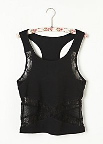 Criss Cross Crop Cami in intimates-tops