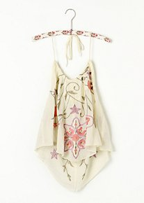 Embroidered Halter Cami in intimates-tops