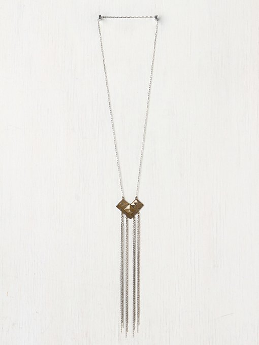 Chevron Fringe Pendant in accessories-jewelry-necklaces