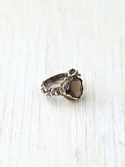 Bora Smokey Mountain Stone Ring in boutique-rings-earrings