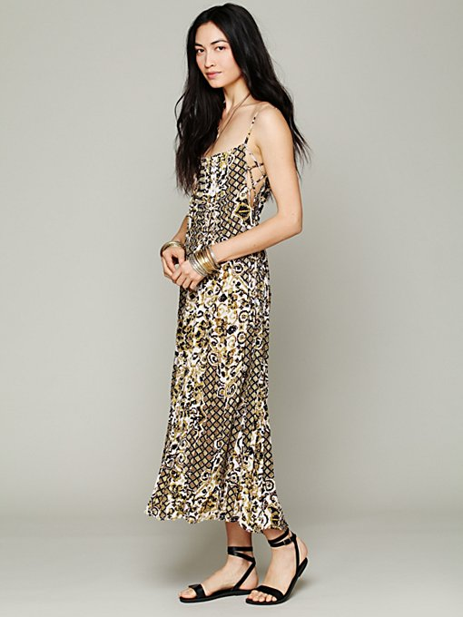 Free People FP ONE Geo Gypsy Maxi Dress in white-maxi-dresses