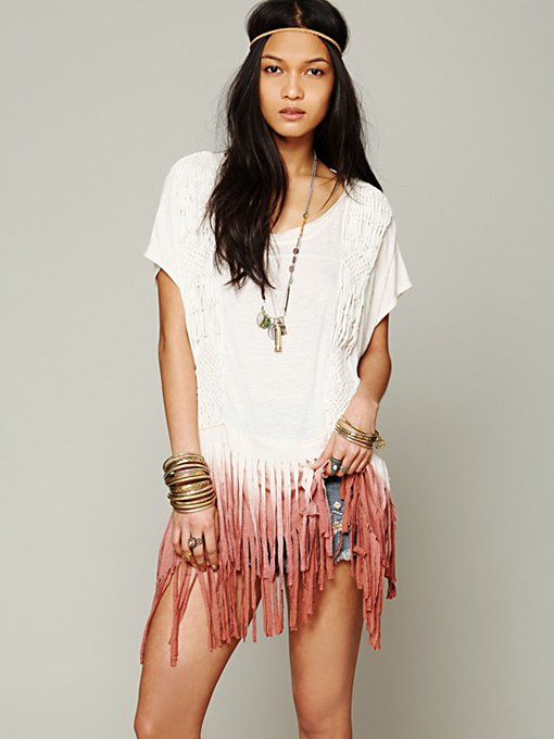 Free People Rough Rider Ombre Tee in Oversized-Tees