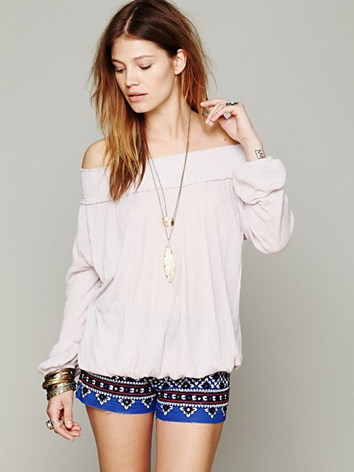 Free People FP X Sun Kissed Top in off-shoulder-tops