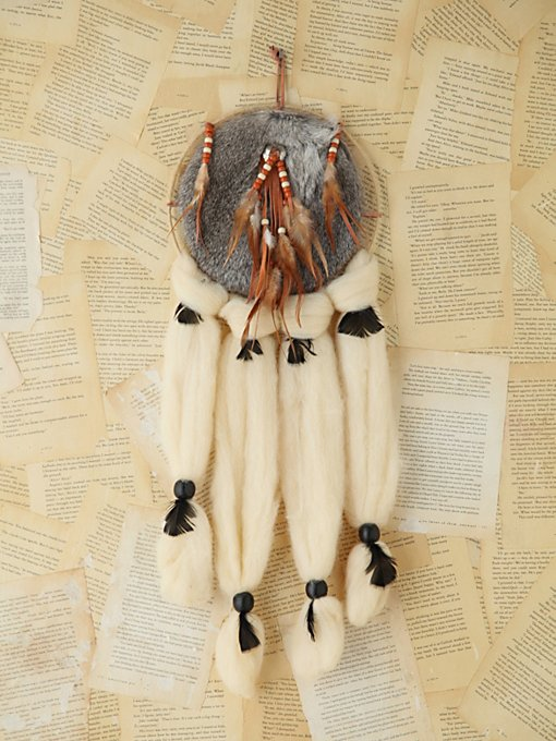 Vintage Large Furry Dreamcatcher in vintage-loves-objects