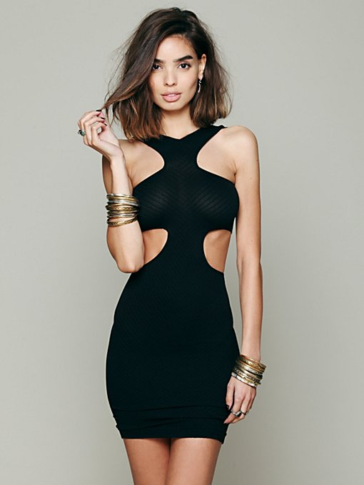 Intimately Cut Out Seamless Bodycon in Mini-Dresses