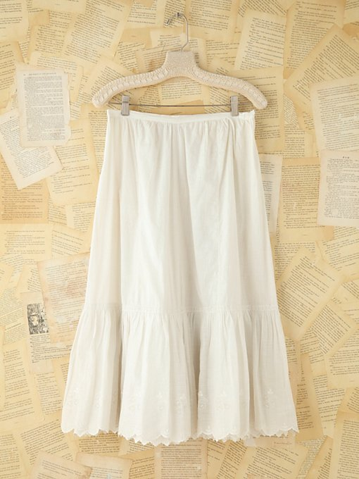 Free People Vintage Crochet Trimmed Cotton Skirt in vintage-skirts