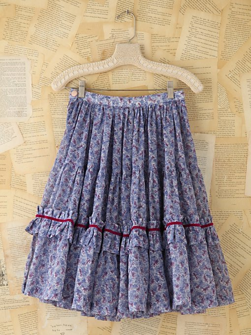 Free People Vintage Floral Print Skirt in vintage-skirts