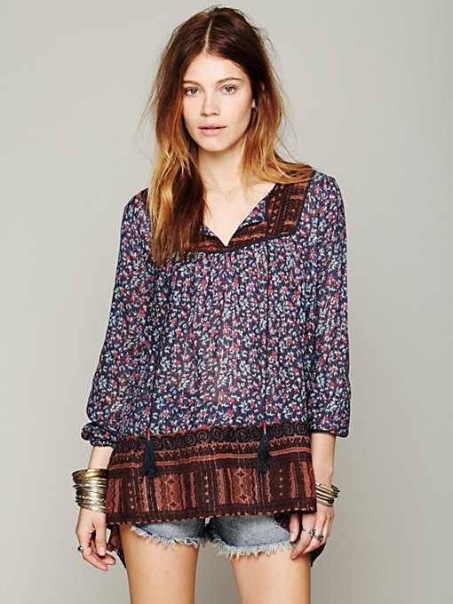 Border Print Tunic in clothes-all-tops-tunics