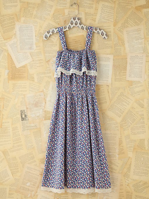 Free People Vintage Floral and Lace Dress in Vintage-Dresses