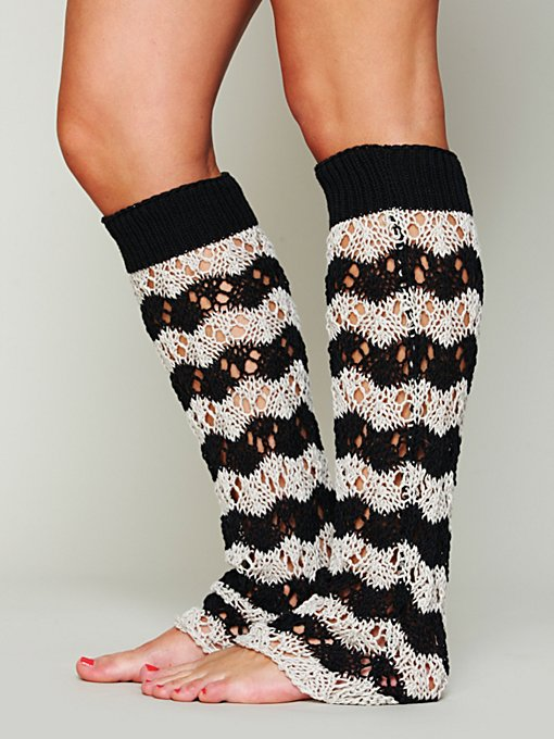 Striped Legwarmers in accessories-socks-legwear