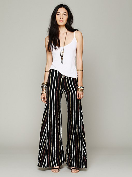 Free People Linen Extreme Flare in wide-leg-pants