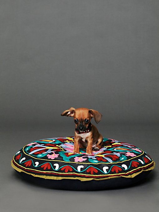 Free People Embroidered Krishna Dog Bed in Pet-Beds