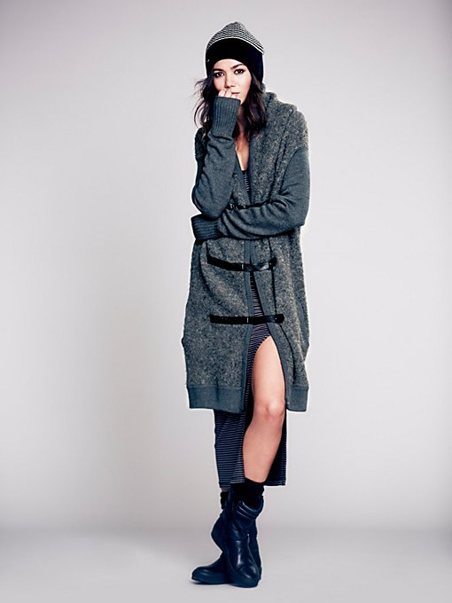 Nicholas K Drapey Wool Sweater Coat  in Coats