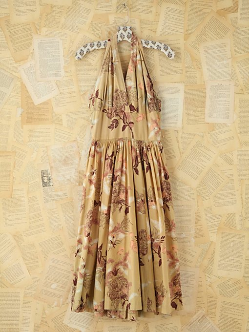 Free People Vintage Floral Halter Dress in Vintage-Dresses