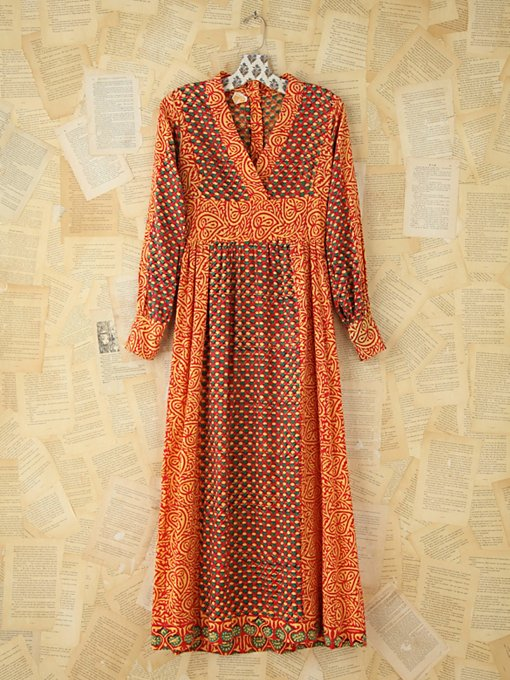 Free People Vintage Printed Kaftan Dress in Vintage-Dresses