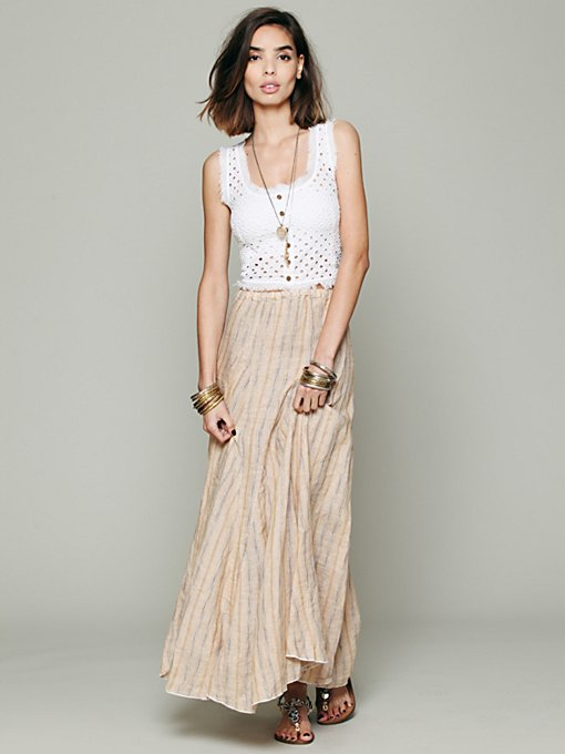 Sunny Stripe Linen Maxi in clothes-skirts