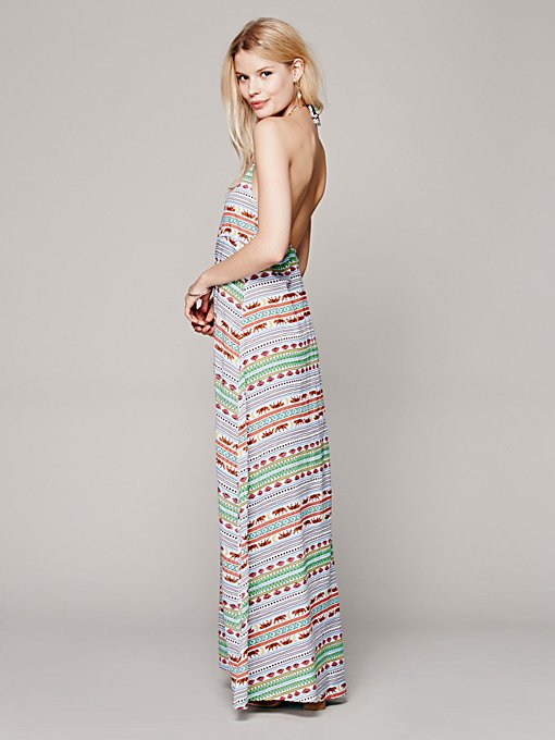 Mara Hoffman Swim Tiger Stripe Maxi Dress in Dresses