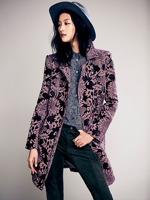 Free People Brocade Coat in Coats