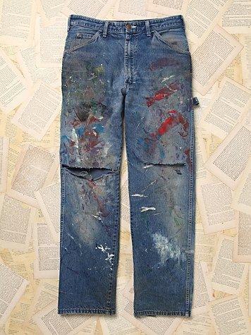 Sale alerts for  Vintage Paint Splattered Dickie's Denim Pants - Covvet