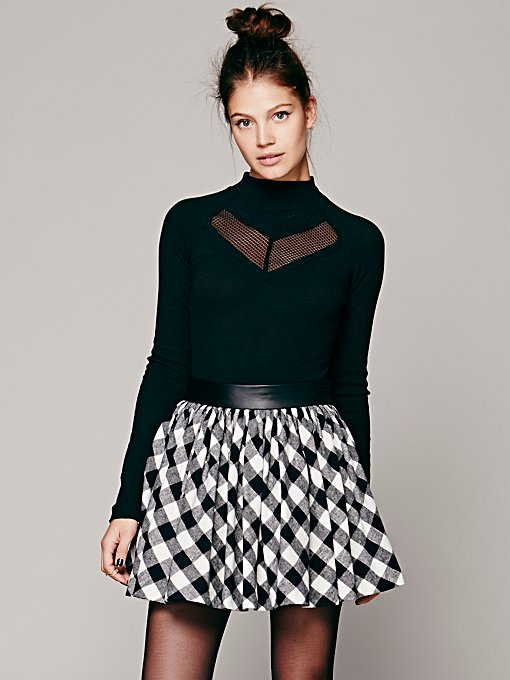 Buffalo Plaid Mini Skirt in clothes-fp-exclusives