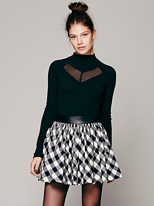 Misile for Free People  Buffalo Plaid Mini Skirt