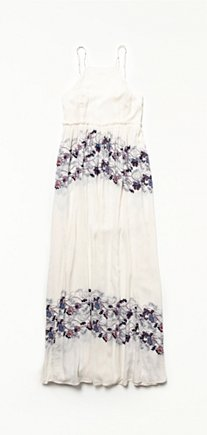 High Neck Printed Maxi
