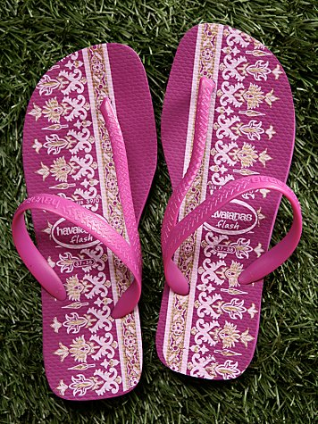Ethnic Flash Flip Flops