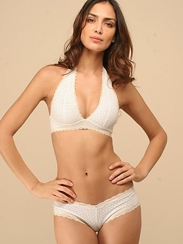 Diamond Crochet Halter Bralette from freepeople.com