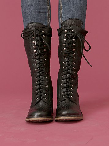 Dupree Lace up Zip Boot by Sam Edelman